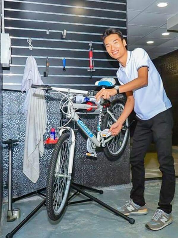 公眾空間可供組裝或修理單車